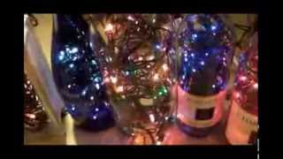 DIY - how to make your own beautiful lighted wine bottles