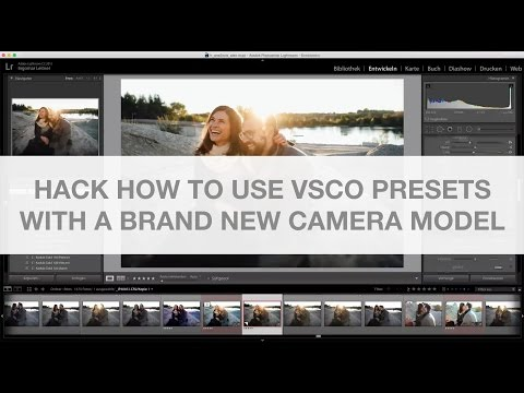 Hack How to use Vsco Lightroom Presets with a brand new Camera