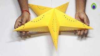 DIY How to make Star Lantern Kandil For Diwali & Christmas Decoration