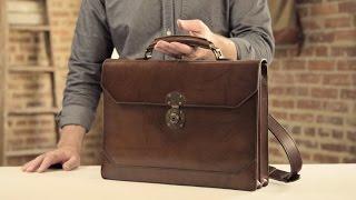 The Benjamin Briefcase   Full-Grain Leather Briefcase