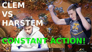 Starcraft 2 - Constant Action! - Clem vs Harstem - TvP