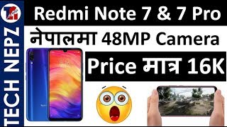 Redmi Note 7  Price in Nepal | 48Mp Camera Mobile in Nepal | Tech Nepz