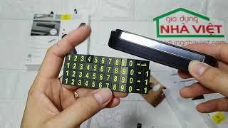Thiết lập bảng số điện thoại Baseus cho xe ô tô