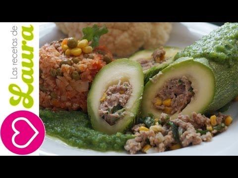 Calabacitas Rellenas de Carne Molida de pavo Las Recetas de Laura Low fat recipes Recetas Saludables