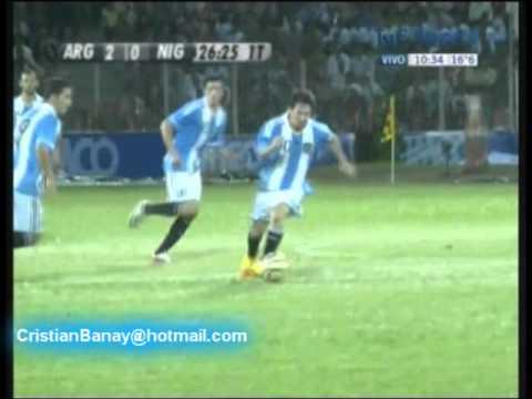 Argentina 3 Nigeria 1 Amistoso Internacional 2011 Los goles (Relato Leo Gabes) )