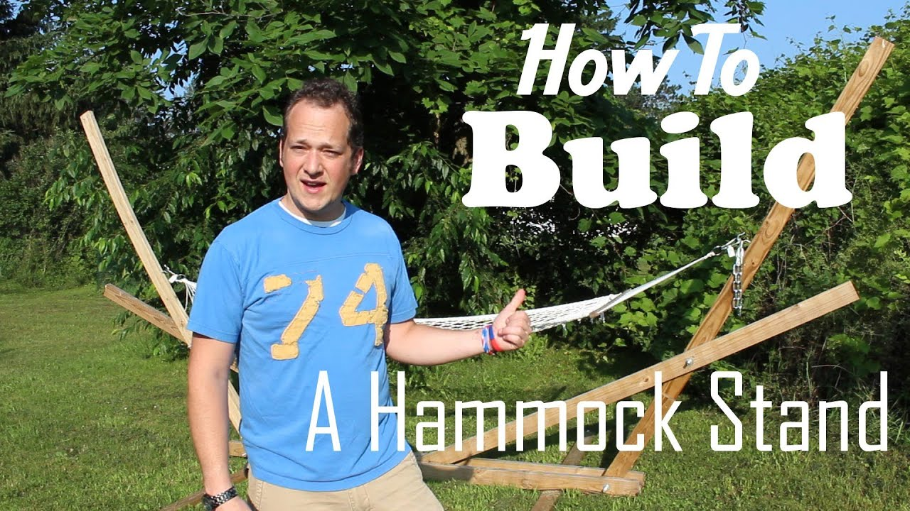 Folding Wood Hammock Stand Plans