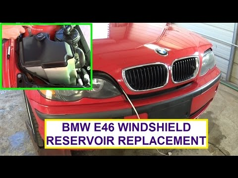 BMW e46 Widnshield Washer Reservoir Replacement  BMW 316i 318i 320i 323i 325i 328i 330i 320d 330d