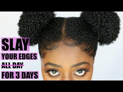 How to Slay Your Edges! Secret Hair Gel for Coarse Natural Hair   4c   Baby Hairs   #blackgirlmagic
