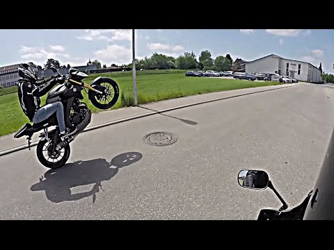 Yamaha MT 125 WHEELIE || Stand-Up WHEELIE || BURNOUT | [FullHD - GoPro]