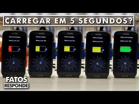 É possível carregar a bateria do celular em 5 segundos