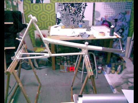 Bicicleta reclinada corta Proceso completo de construcción