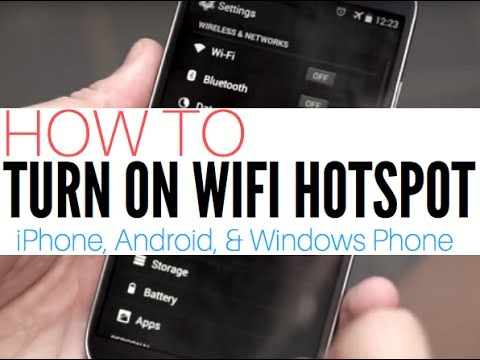 How to turn on WiFi Hotspot on iPhone. Android and Windows Phone