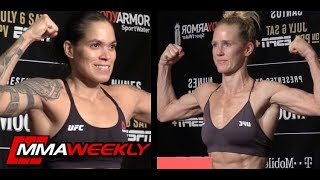 UFC 239 Official Weigh: Amanda Nunes vs. Holly Holm