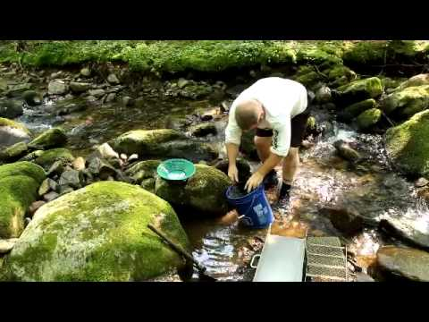 Panning Gold in Rivers Gold Panning The Swift River