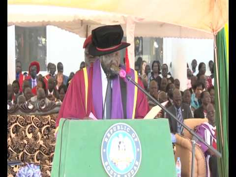 Speech of HE  Salva Kiir to Juba University Graduands 28 4 2015