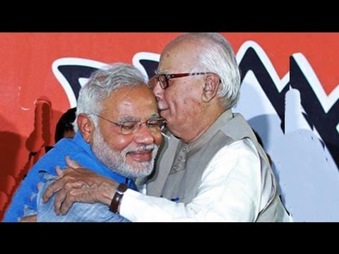 Election results 2014: from Advani, flowers and a hug for Modi