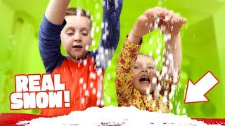 DIY Snow! 3 Easy Science Experiments for Kids to do at Home!