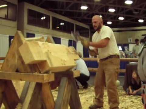 Handcrafted Log Homes Dallas Timber Home Expo Hand Hewn Logs Demo