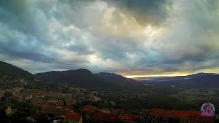 Coucher de Soleil du 28 juin en Corse depuis Sartene dans les nuages du Golfe du Valinco