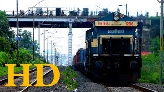 FIRST TIME ON YOUTUBE EMD WDG4 POWERING FREIGHT TRAIN THROUGH HABIBGANJ BHOPAL  IT WAS BGKT WDG4