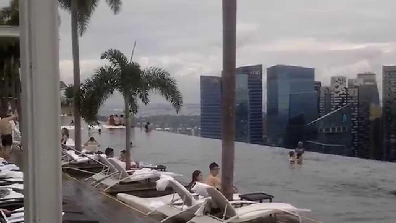 сингапур бассейн на крыше отеля фото