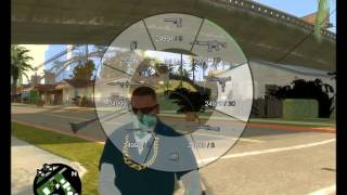 GTAIV San Andreas Dual Wielding and GTAV Weapon HUD