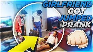 GIRLFRIEND'S GOT JUMPED PRANK ON BOYFRIEND'S! (GOE'S CRAZY)