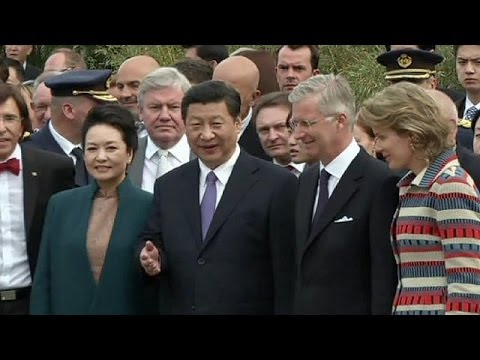 Chinese President Xi Jinping continues European visit in Belgium with royal family