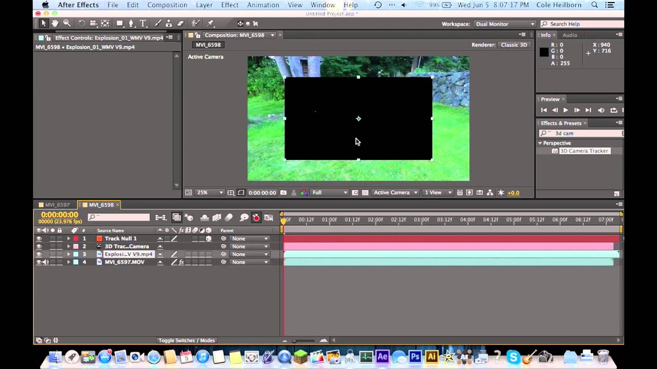 how to make a camera follow a path after effects