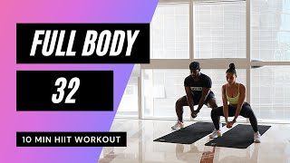 No.58 // FULL BODY BURN // 10 MIN HIIT WORKOUT AT HOME // MR AND MRS MUSCLE