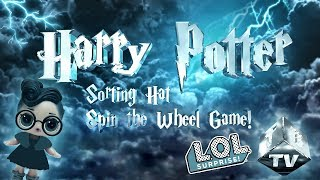 LOL Surprise Dolls Harry Potter Spin the Wheel Game! Featuring Sugar Queen, Treasure, and Dollface!