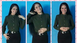Como fazer blusa gola padre de manga comprida- costura para iniciantes