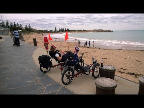 Encounter Bike Trail on ANZAC Day 2014 - Recumbent Trike Ride Tour