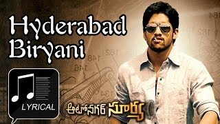 Hyderabad Biryani - Autonagar Surya (ఆటొనగర్ సూర్య) Movie || Hyderabad Biryani Song With Lyrics