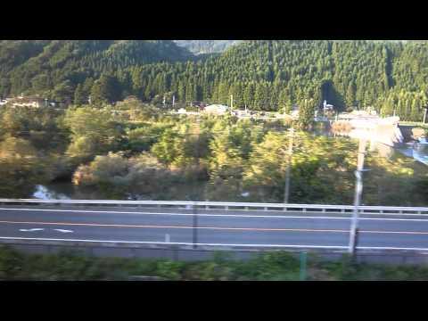 JR陸羽東線、鳴子御殿湯駅~鳴子温泉駅までの車窓