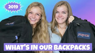 What's In Our Backpack? Back to School 2019 ~ Jacy and Kacy