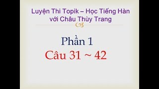 Giải đề số 52  Topik 1_ Châu Thùy Trang