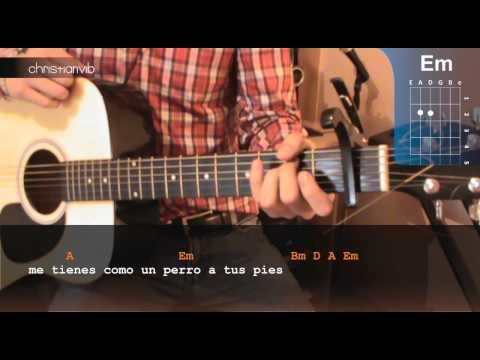Como tocar Labios Compartidos en Guitarra (HD) Tutorial