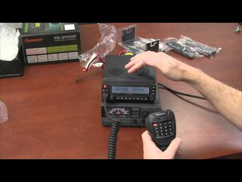 Wouxun KG-UV920P Dual Band Base/Mobile Two Way Radio Unboxing