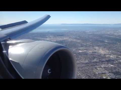 Air New Zealand Boeing 777-300ER Landing in Los Angeles from Auckland