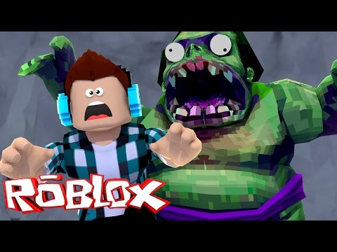 Roblox - FUJA DO ZUMBI GIGANTE !! (Roblox Escape Zombie)