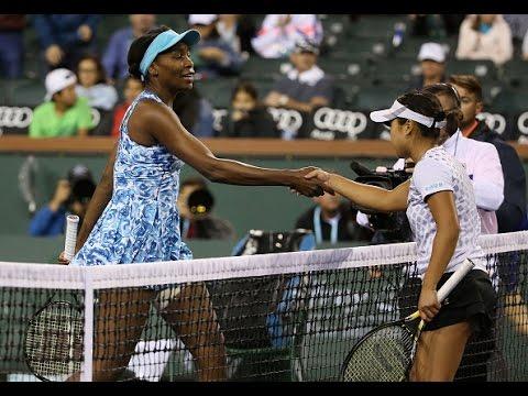 2016 BNP Paribas Open Second Round | Kurumi Nara vs Venus Williams | WTA Highlights