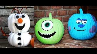 Disney No Carve Halloween Pumpkins 30 Decorating Ideas Frozen Monsters Inc Cinderella Mickey Mouse