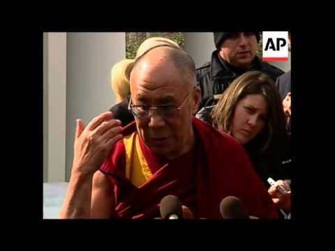 WRAP Dalai Lama at WH; speaks outside; analyst, Tibetans ADDS sbite