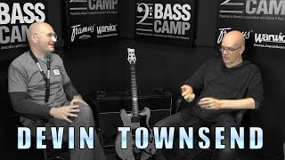 Henning talks with Devin Townsend (two bald guys get really deep)