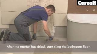 Tiling the floor with electric heating system