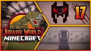 Minecraft Jurassic World - Episode 17 - T-REX PADDOCK & ANCIENT HELMET!