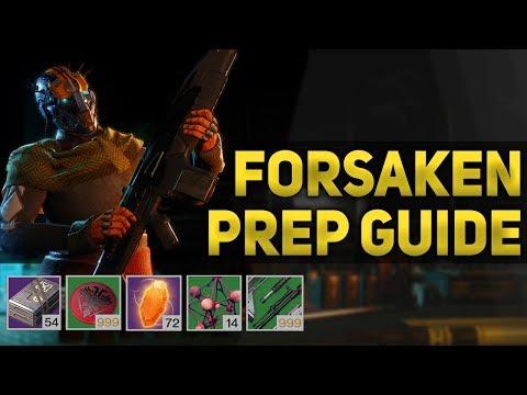 How to Prepare for Destiny 2: Forsaken (Guide - Materials, Farming & More) thumbnail