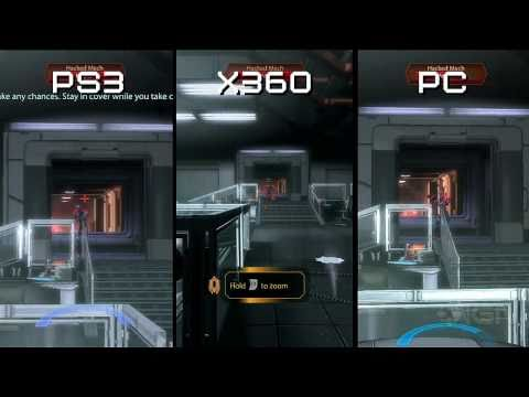 Mass Effect 2: PS3 vs 360 vs PC - Graphics Comparison
