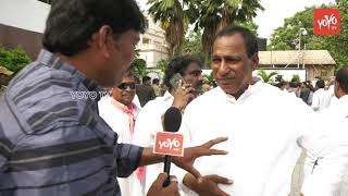 TRS MLA Malla Reddy Speaks to Media at KCR Oath Taking Ceremony